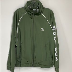 Adidas trefoil green track jacket NWT medium